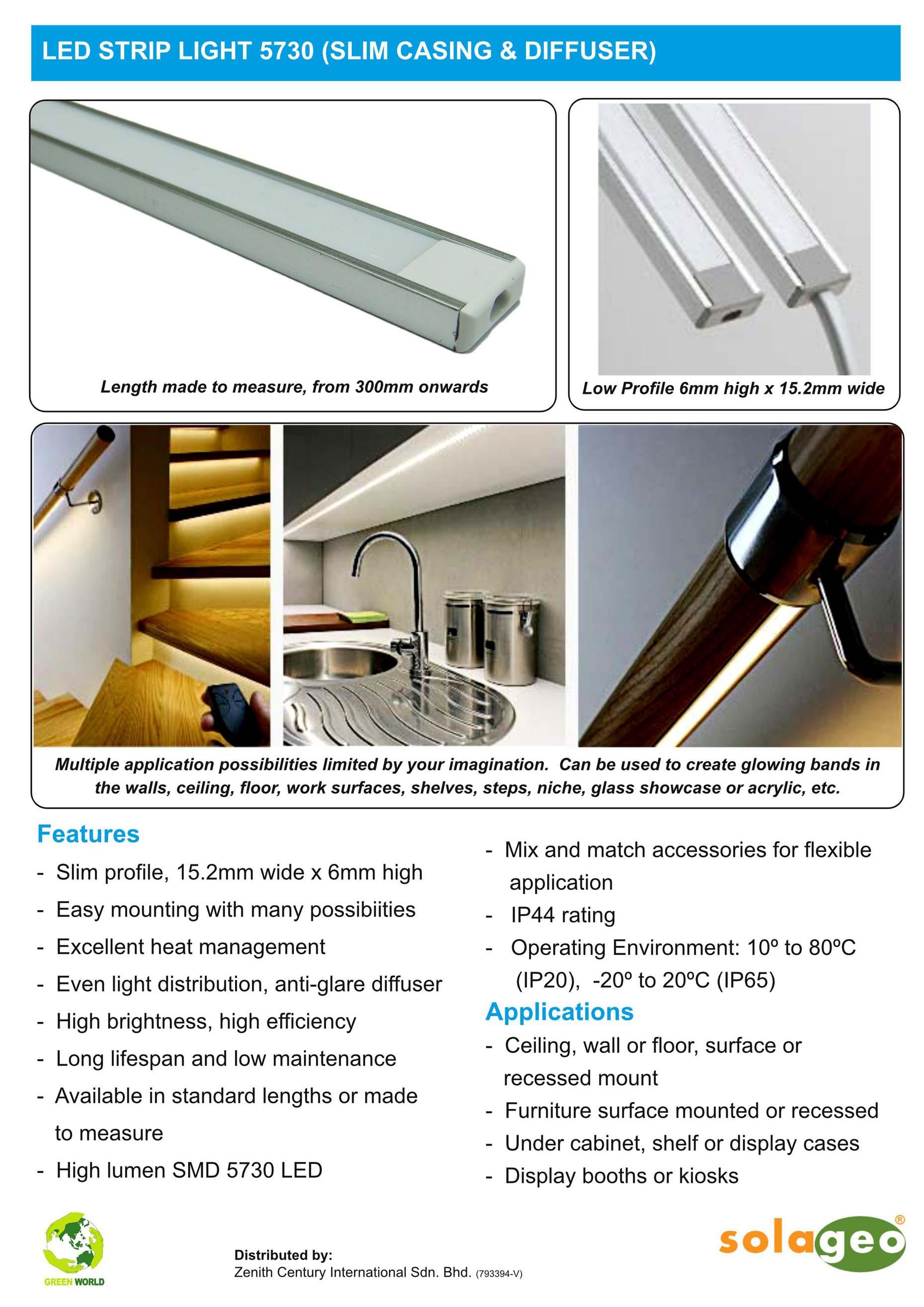 Led strip light 5730 slim casing diffuser zenith century download mozeypictures Images