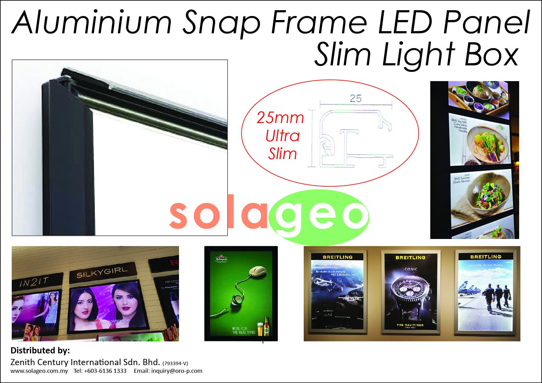 ALUMINIUM SNAP FRAME LED PANEL SLIM LIGHT BOX – ZENITH CENTURY ...